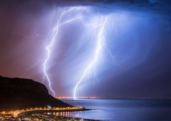 fish hoek lightning cape town south africa mark cullinan photography landscape